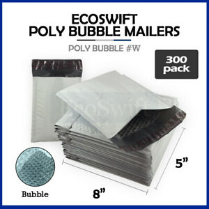 300 000 4x8 Self Seal Poly Bubble Padded Envelopes 5 X 8 X wide Mailers Bags