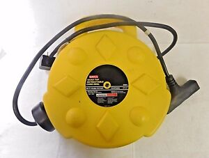 Bayco Quad Tap Retractable Cord Reel 50 Long 12 Awg 15a 120v Sl 8904