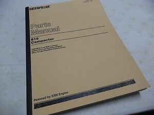Caterpillar 815 Compactor 15r408 Parts Manual