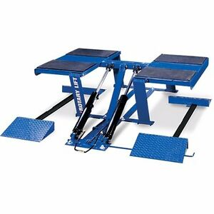 Rotary Vlxs7 Wide Vehicle Drive over Ramps And Side Rails W Dual Lifting Cylnd