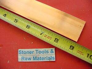 2 Pieces 1 4 x 1 1 2 C110 Copper Bar 9 Long Solid Flat Mill Bus Bar Stock H02