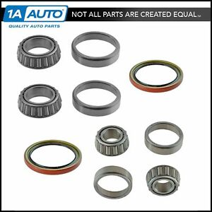 6 Piece Inner Outer Wheel Bearing W Seal Kit Lh Rh Sides For Gmc Chevy Truck