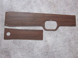 1967 Gto Vinyl Wood Grain Console Trim For Models With A 4 Speed Transmission