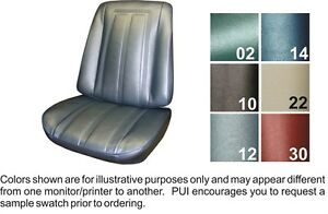 1966 Chevrolet Chevy Ii Nova Ss Fawn Front Bucket Seat Covers Pui