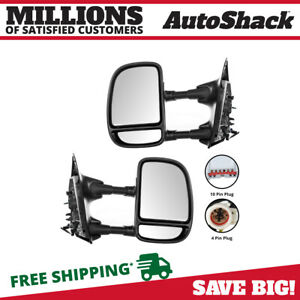 Pair Of Power Towing Side Mirrors Fits 99 03 Ford F250 F350 F450 F550 Superduty