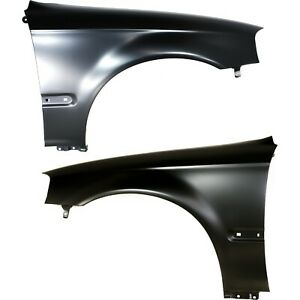 Fender For 99 2000 Honda Civic Set Of 2 Front Driver Passenger Primed Steel