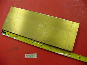 1 2 X 3 C360 Brass Flat Bar 8 Long Solid Plate Mill Stock H02 50 X 3 0 x 8