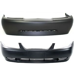 Bumper Cover For 99 2003 Ford Mustang Without Fog Light Hole W Side Marker Hole