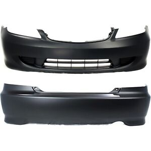 Bumper Cover For 2004 2005 Honda Civic 2 Door Coupe Without Fog Light Holes