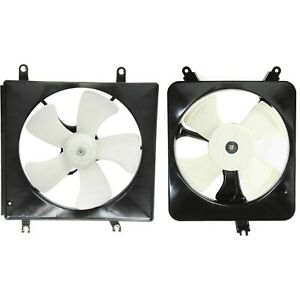Radiator Cooling Fan W A C Condenser Fan For 94 97 Honda Accord Set Of 2