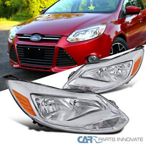 12 14 Ford Focus Replacement Clear Driving Headlights Corner Signal Lamps Pair