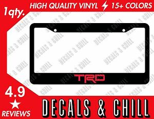 Trd License Plate Frame Decal Sticker Tacoma Corolla Tundra Frs Gt86