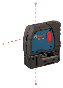 Bosch 3 point Self leveling Laser Level Model Gpl 3 New Free Shipping