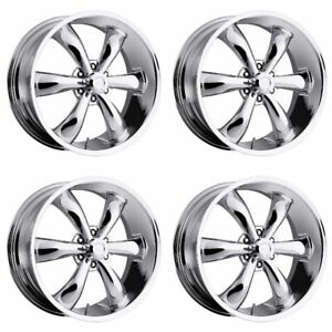 Set 4 20 Vision 142 Legend 6 Chrome Wheels 20x9 5 6x5 5 20mm Chevy Gmc 6 Lug