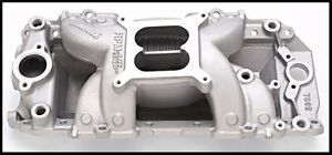 Edelbrock 7562 Performer Rpm Air Gap Intake Manifold Bbc Chevy Rect Port 7562
