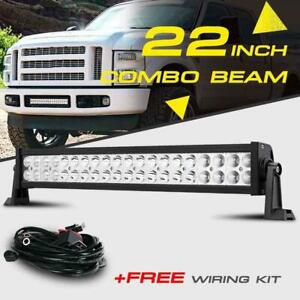 22 280w Cree Led Work Light Bar Spot Flood Driving Offroad Truck Utv Fog 20 24
