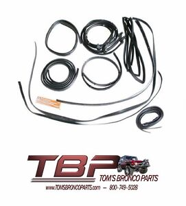 1966 1968 Ford Bronco 15 Piece Rubber Weatherstripping Kit W Hardtop