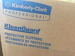 25pk Xl Kimberly clark 44334 A40 Protection Coveralls With Hood