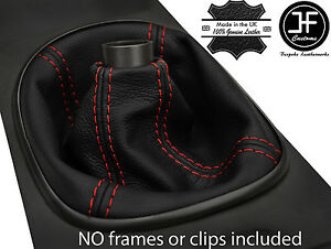 Red Stitch Manual Real Leather Shift Boot Fits Acura Rsx Type S Type R 02 06