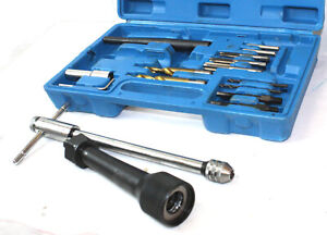Damaged Glow Plug Removal Remover Tool Set Kit Thread Repair Audi Vw Mercedes