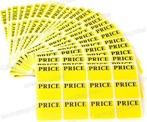540 Avery Pricing Labels Removable Adhesive Price Tags Rectangular Yellow