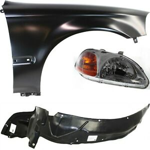 New Auto Body Repairs Set Of 3 Front Passenger Right Side Rh Hand Coupe Sedan