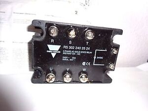 3 Phase Ac solid State Relay Rs302 Rt202 3 Phase Rs 302240 25 24 Carlo Gavazzi