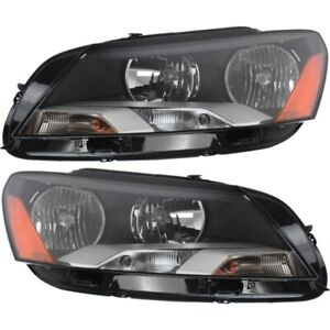 Headlight Set For 2012 2015 Volkswagen Passat Left And Right With Bulb 2pc