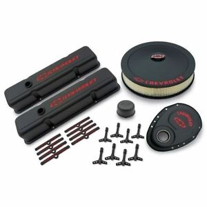 Proform 141 758 Black Crinkle Deluxe Dress up Kit For Chevy Small block Engines