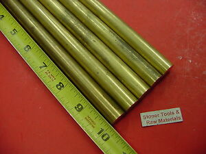 5 Pieces 5 8 C360 Brass Solid Round Rod 10 Long New Lathe Bar Stock 625