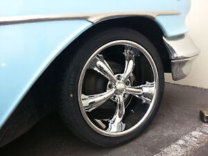 26 Inch Dcenti Dw19 Chrome Wheels Rims Tires Fit 5 X 120 Old School Cars