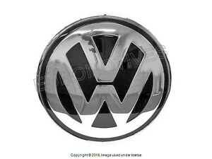 Vw New Beetle 02 05 Hood Emblem Badge Chrome grey Front Engine Lid Insignia