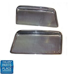 1964 Gto Chrome Hood Scoops Inserts Show Quality Pair