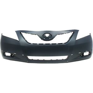 Front Bumper Cover Primed For 2007 09 Toyota Camry With Spoiler Holes 5211906921