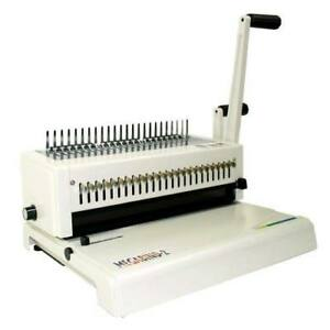 New Akiles Megabind 2 Comb Binding Machine With Wire Closer Free Shipping