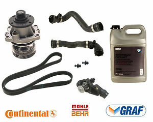 For Bmw E46 Cooling System Kit Water Pump Thermost Hoses Belt Antifreeze Gallon