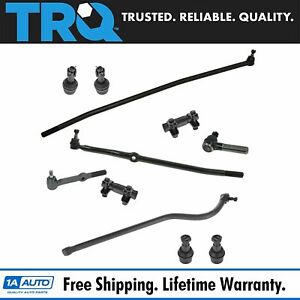 Ball Joint Tie Rod End Drag Link Trac Bar Set Of 11 For 94 97 Ram 2500 3500 4wd