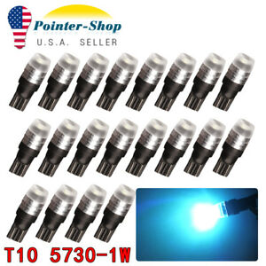 20x T10 5730 Led Ice Blue Car Interior Light Bulb W5w 158 168 171 192 194 2825