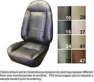 1972 Chevrolet Nova Ss Custom Front Seat Covers Pui
