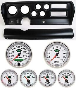 70 72 Gto Black Dash Carrier W Auto Meter Nv Gauges