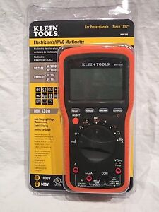 New Klein Tools Mm1300 Electricians Hvac Multimeter Backlit Multi Tester Meter