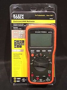 Klein Tools Electricians Hvac Backlit Voltage Current Multi Tester Meter Nib New