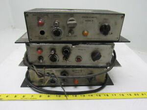 Strobe o matic Model B Web Printing Press Inspection Power Supply Lot Of 3