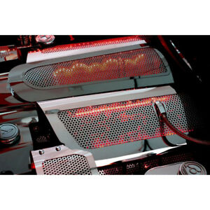 Perforated Replacement Fuel Rail Covers W white Led For 2006 12 Corvette Z06 Ls7
