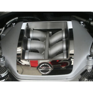 4pc Polished Stainless Steel Engine Shroud Cover For 2010 2013 Nissan Gt r