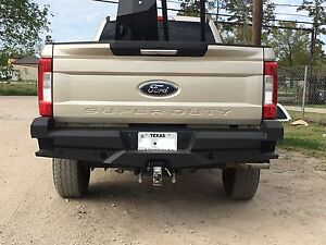 New Ranch Style Smooth Rear Bumper 2017 2018 Ford F250 F350 Super Duty