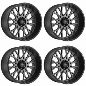 Set 4 18 Vision 412 Rocker Anthracite Rims 18x9 5x150 12mm Toyota Tundra 5 Lug