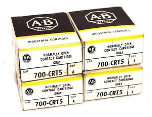 Lot Of 4 New Allen Bradley 700 crt5 Ser A Contact Cartridges 700crt5