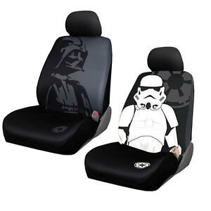New Disney Star Wars Storm Trooper Darth Vader Car Truck 2 Front Seat Covers Set