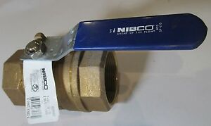 New Nibco T 580 70 66 Threaded Bronze Stainless Steel Ball Valve 2 1 2 Nl95h0e
